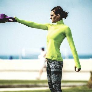 Nike Pro Light Yellow Dri-fit Warm Therma Fit